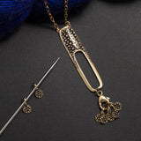 Porterness Gold Stitch Marker Necklace For Knitting Addicts