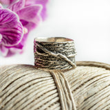 Porterness Studio Forget Me Not Knot Fiber Ring