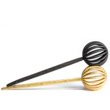 Porterness 3D Printed Steel Pompom Shawl Pin In Gold