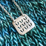 Porterness Stockinette Motif Swatch Sterling Silver Necklace