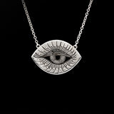Sterling Silver Inner Eye Necklace