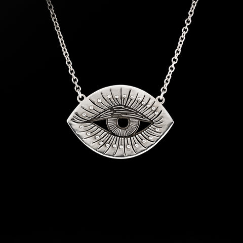 Sterling Silver Inner Eye Necklace, Illanna Style