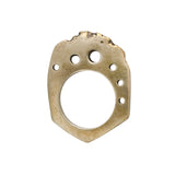 Porterness Studio Angled Bronze Bitey Ring with Space