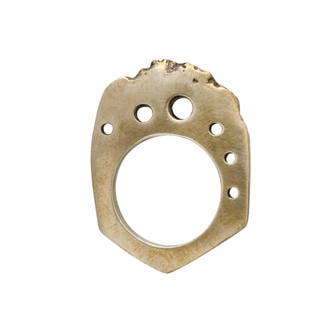 Angled Bronze Bitey Ring with Space