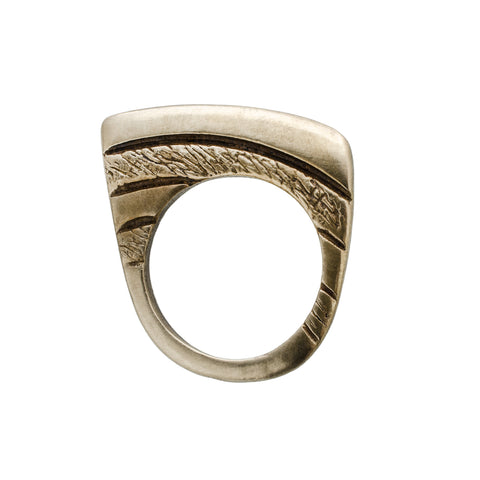 Bronze Comb Over Ring