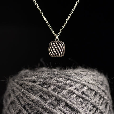 There Will Be Yarn Cake Necklace in Sterling Silver
