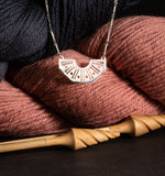 Knit and Dissent, RBG Collar If She Knitted!  Knitting Needles & Yarn Motif Necklace