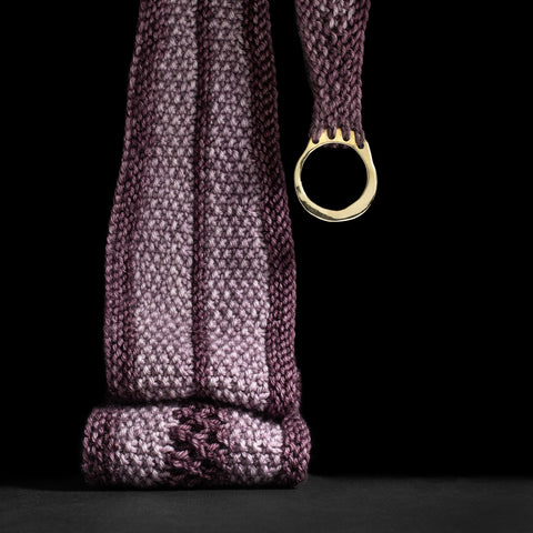 Porterness Studio Bronze Shawl Ring Luxury Knitting Jewelry for the Contemporary Yarn Connoisseur