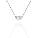 Sterling Silver Open Stockinette Stitch Motif Necklace
