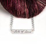 "Sterling Silver Double Sided Crochet Hook & ""Lots of Love"" Reversible Necklace"
