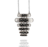 Porterness Studio Sterling Silver Devine Lines NecklaceSilver Chuck and Ray Lounge Necklace