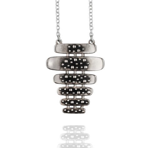 Silver Chuck and Ray Lounge Necklace