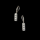 Silver Stockinette Stitch Motif Earrings- Gifts for Knitters