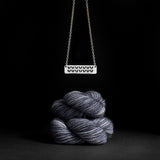"porterness Studio Sterling Silver Double Sided ""Yarn Life"" & Stockinette Stitch Motif Necklace"