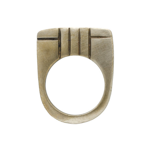 Bronze Guiding Lines Ring