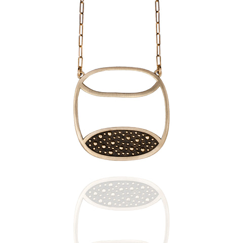 Porterness Studio Bronze Half Full Demi-Sec Necklace