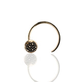 Porterness Studio Small Bronze Round  Demi-Sec Shawl Pin