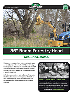 "36"" Boom Forestry Head Brochure"