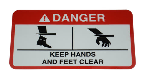 15-0001 - 6T3217 - DECAL,DANGER HANDS,FEET