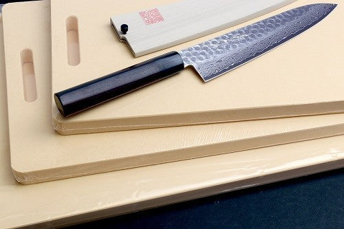 Japanese Chef Knife on Cutting Boards