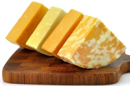 Four Kind of Cheese on Cutting Board