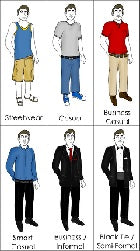 a casual clothes guidelines