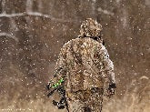 DEER HUNTING JACKET IN SNOW AND WINTER WEATHER
