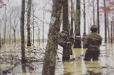 DRAKE WATERFOWL CLOTHING working overtime in FLOODED TIMBER