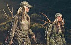 two women out for hunting