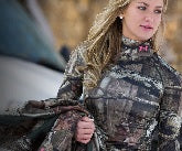 woman in  hunting clothes