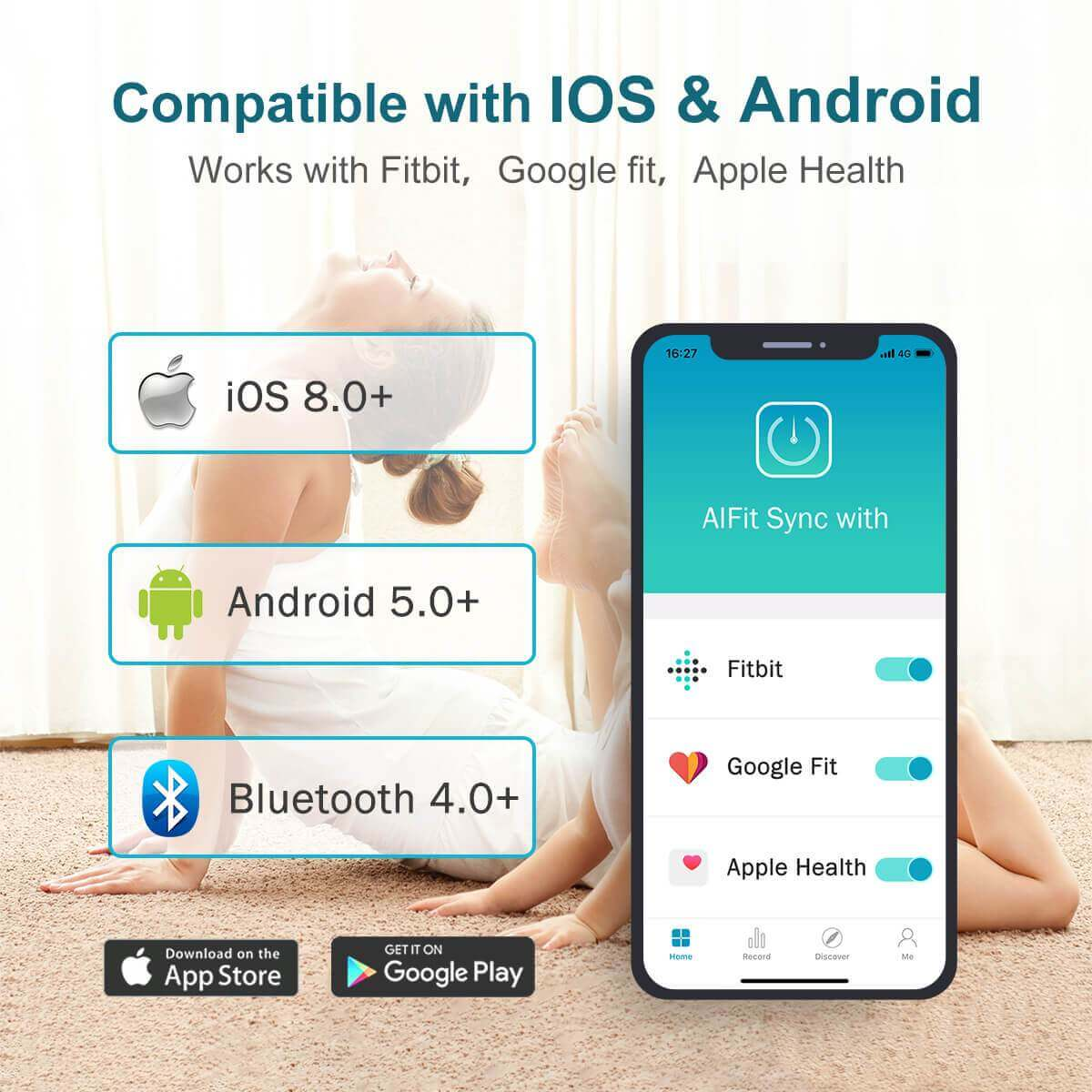 bluetooth body fat scale with smartphone app