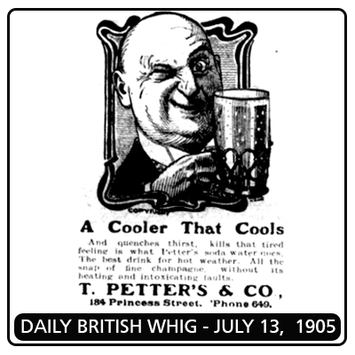 Petters Soda Ad, Daily British Whig (1905)