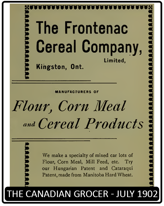Frontenac Cereal Company Announcement (The Canadian Grocer - July 1902)