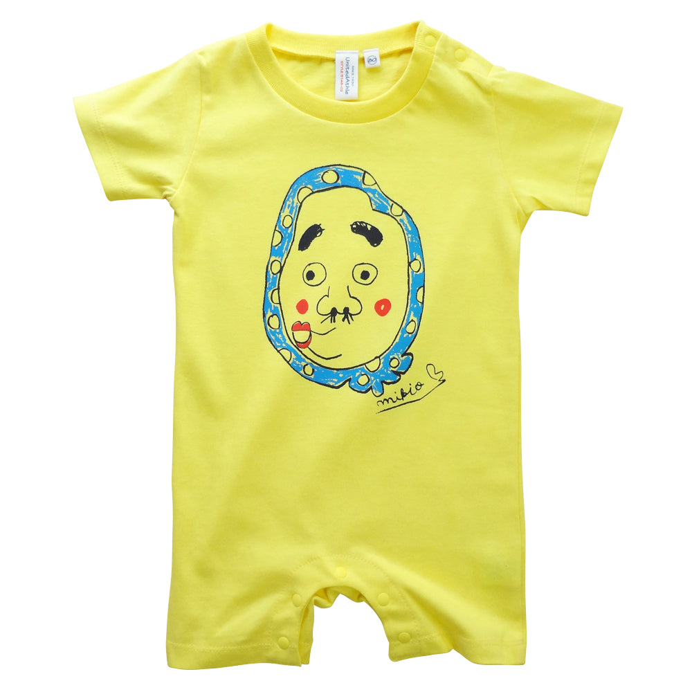 Hyottoko Baby's Rompers Yellow