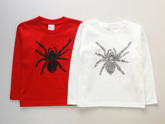 Tarantula Metallic Long Sleeve Kid's T shirt SilverGray