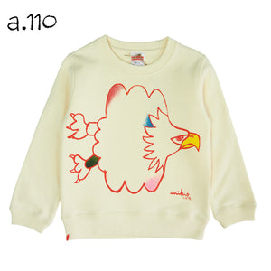 Mikio's  Bald Eagle Kid's Sweatshirt 110size-a