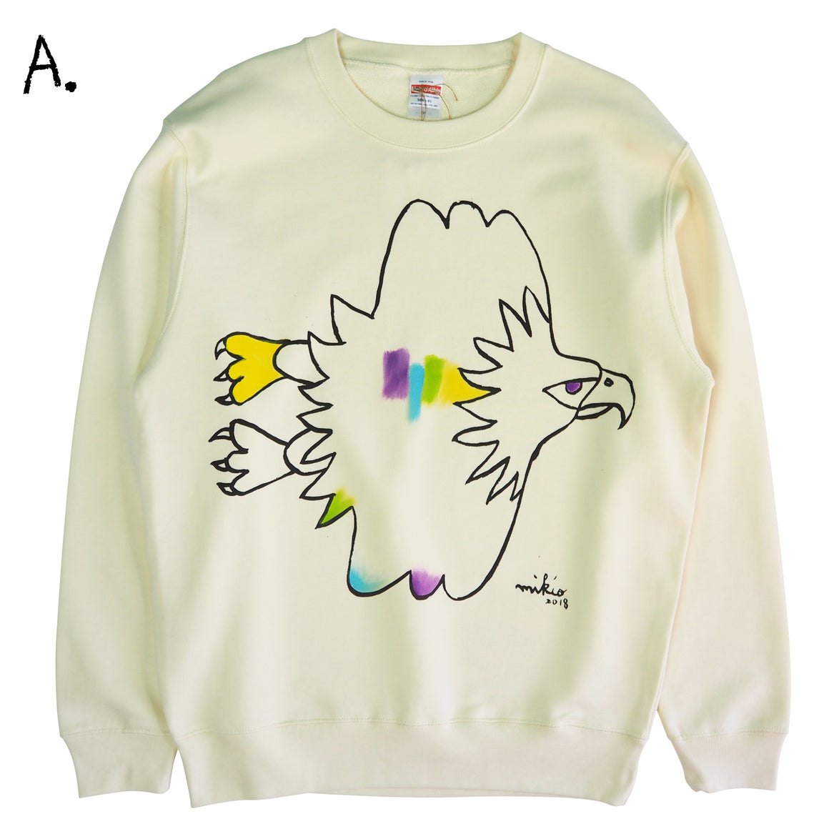 Mikio's  Bald Eagle Adult Sweatshirt Msize-A