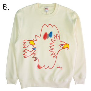 Mikio's  Bald Eagle Adult Sweatshirt Msize-B