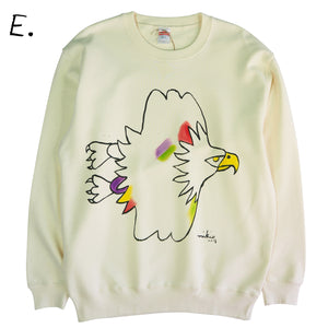 Mikio's  Bald Eagle Adult Sweatshirt Lsize-E