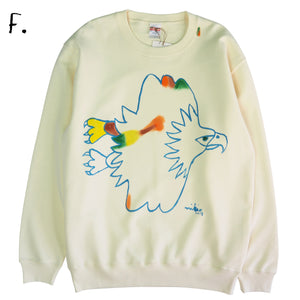 Mikio's  Bald Eagle Adult Sweatshirt Lsize-F