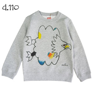 Mikio's  Bald Eagle Kid's Sweatshirt 110size-d