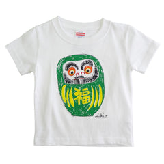 Daruma Kid's T shirt Green