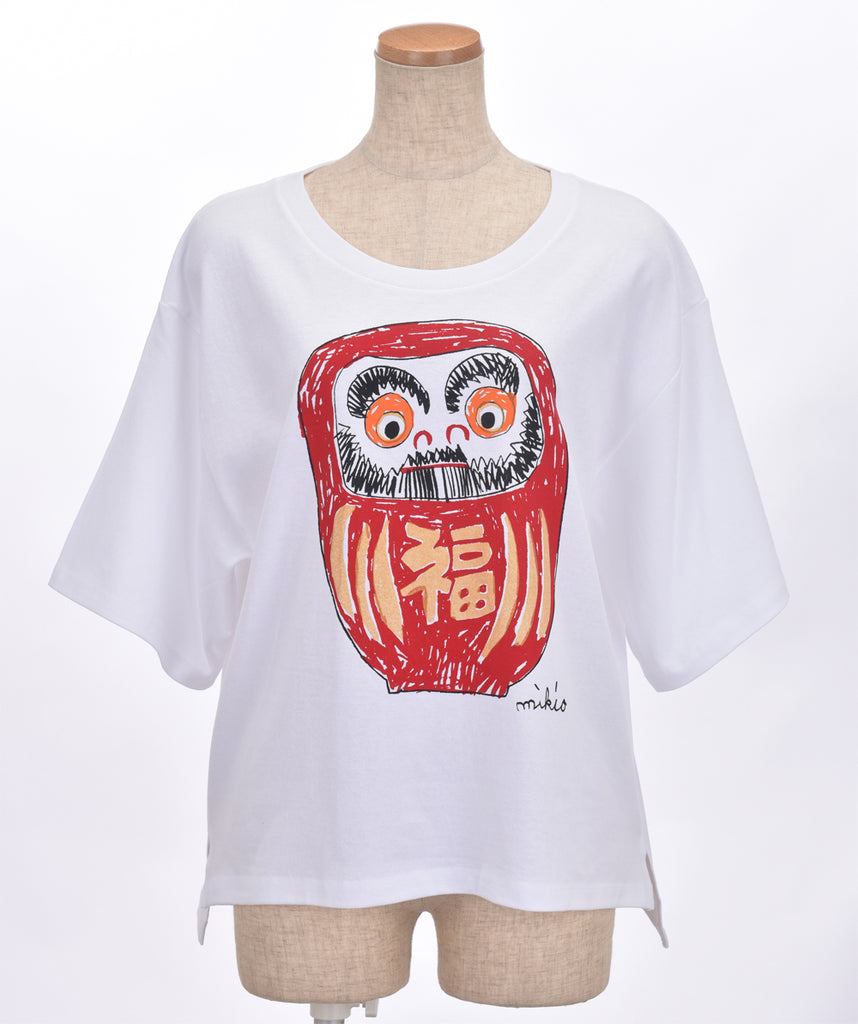 Daruma Women's Oversized T shirt **Gold body