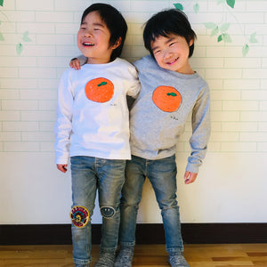 Mikan Kid's Long Sleeve T shirt