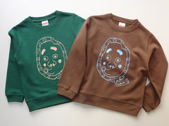 Hyottoko Kid's sweatshirt IvyGreen