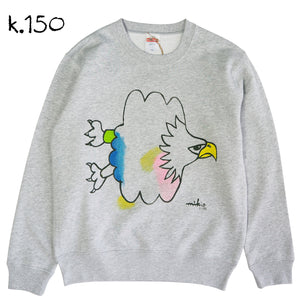 Mikio's  Bald Eagle Kid's Sweatshirt 150size-k