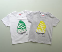 Kakigori Shaved Ice Baby's T shirt Lemon Ash