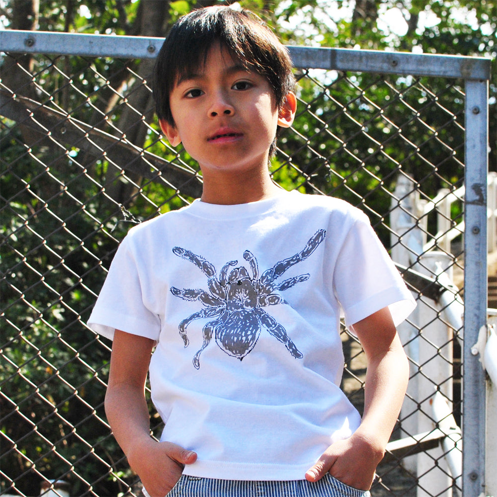 Tarantula Metallic Kid's T shirt SilverGray