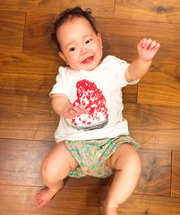Kakigori Shaved Ice Baby's T shirt Strawberry