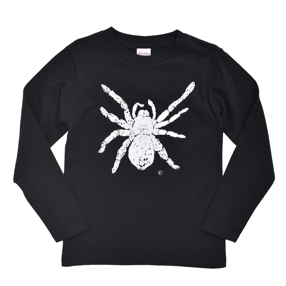 Tarantula Long Sleeve Kid's T shirt Black